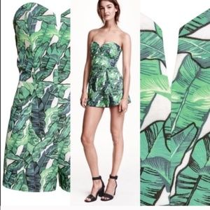H&M Conscious Strapless Romper   Tropical   Size 8